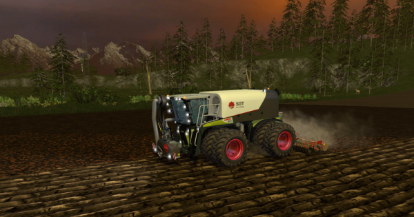 Claas Xerion 4000 SaddleTrac for farming simulator 15